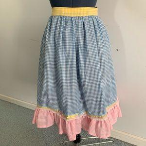 Pastel gingham prairie skirt